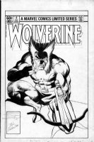 MILLER, FRANK full pencils - MILLER, FRANK - Wolverine Mini-series #4 cover! signed! the classic cover, Miller redid as Destroyer Duck cover Comic Art