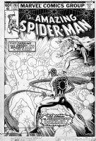 MILLER, FRANK - Amazing Spider-Man #203 cover, Spidey and early Dazzler Comic Art
