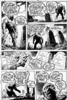 REDONDO, NESTOR - Swamp Thing #13 page 19, great page...Swamp Thing in every panel as he confronts his own grave and that of his beloved wife, Linda Holland Comic Art