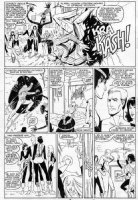 GUICE, BUTCH - New Mutants #44 pg 13, KYLE BAKER inks, Magik & team teleport inside bar-fight with Legion Comic Art