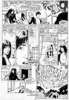 GUICE, BUTCH - New Mutants #46 pg 16, KYLE BAKER inks, Magik & Karma leave New Mutants Team in panic Comic Art