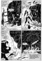 GUICE, BUTCH - New Mutants #47 pg 11, KYLE BAKER inks, 4-panels - Magik & X-Team & Warlock vs Magus Comic Art