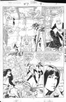 GUICE, BUTCH - New Mutants #47 pg 7,  KYLE BAKER inks, Magik draws out X-Team & Warlock for meal Comic Art