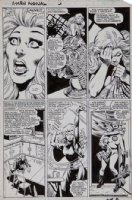 ANDERSON, BRENT - X-Men Annual #5 pg 11, Storm awakes from a nightmare and uses her powers. Plus, the Fantastic Four Comic Art