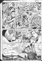 ANDERSON, BRENT - Power Pack #10 pg 18, underwater with Alpha Flight member Comic Art