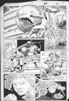 ANDERSON, BRENT - Power Pack #13 pg 16, pro baseball Comic Art