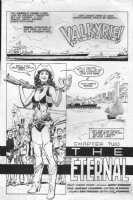 ANDERSON, BRENT - Valkyrie #2 splash, Airboy spinoff Comic Art