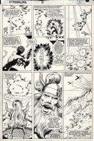ANDERSON, BRENT / BOB McLEOD - X-Men Annual #5 pg 36, Nightcrawler stopping Badoon stargate Comic Art