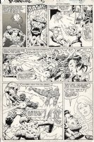ANDERSON, BRENT / BOB McLEOD - X-Men Annual #5 pg 30, Storm saves the Fantastic Four Comic Art