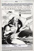 LIM, RON - Captain America #374 pg 1 splash. Streets of Poison classic large image of Cap Comic Art