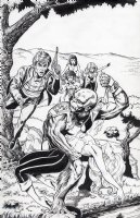 LIM, RON (Frazetta Buck Rogers homage) - Legends of Stargazers #2 unused cover Comic Art