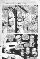LIM, RON - Captain America #376 montage half pg 9, Cap Red Skull  Comic Art