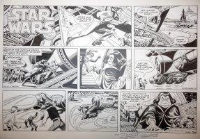MANNING, RUSS- Star Wars Sunday #64 5/25 1980, Luke Han & Chewy chase Leia' assassin Comic Art