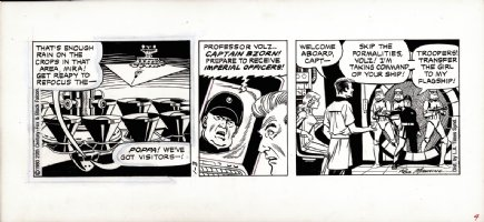 MANNING, RUSS - Star Wars daily, Empire ships officers a troops board space ship, 1/3 1980 Comic Art
