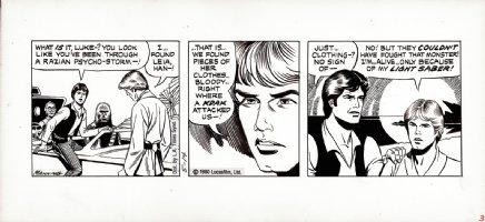 MANNING, RUSS - Star Wars daily, Luke Han, Chewie & C3PO in speeder  5/14 1980 Comic Art