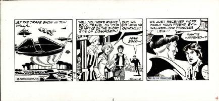 MANNING, RUSS - Star Wars daily, Han Solo & Falcon ship 5/8 1980 Comic Art
