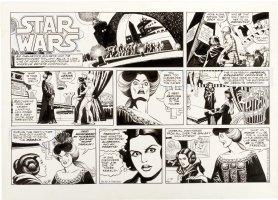 MANNING, RUSS - Star Wars Sunday, Princess Leia meets widow of Grand Moff Tarkin  11/18 1979 Comic Art