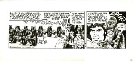 MANNING, RUSS - Star Wars daily 3-25 1980, 2 panels, three heroes Comic Art