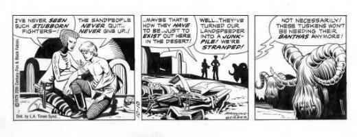 MANNING, RUSS - Star Wars daily, Luke Skywalker, Banthas, signed by Russ, 10/10 1979 Comic Art