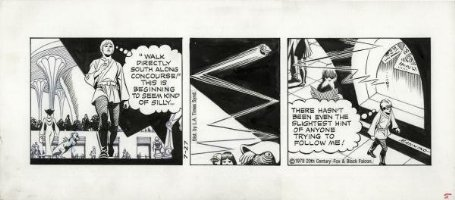 MANNING, RUSS - Star Wars daily, Luke Skywalker, signed by Russ, 7/27 1979 Comic Art