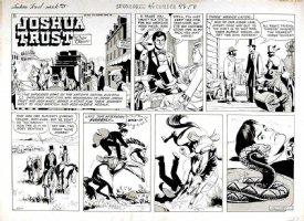 MANNING, RUSS - Joshua Trust Sunday, Joshua bucked by horse from rattler - week 5, 1959 Comic Art