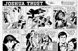 MANNING, RUSS - Joshua Trust Sunday, Joshua stops Indian assassin for Pres Johnson - week 2, 1959  Comic Art