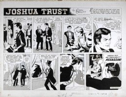 MANNING, RUSS - Joshua Trust Sunday, Joshua vs Presidential assassin? week 1, 1959  Comic Art