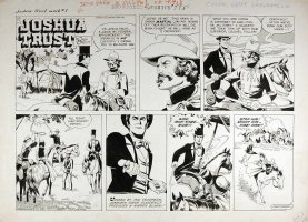 MANNING, RUSS - Joshua Trust Sunday, Joshua stops Indian from being lynched - week 7, 1959 Comic Art