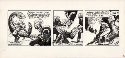 MANNING, RUSS - Star Wars daily 7/1 1980, Han caught & 1st Boba Fett   Comic Art
