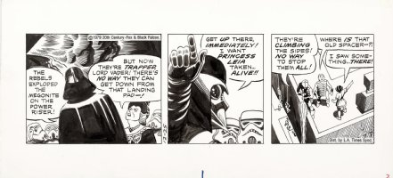 MANNING, RUSS - Star Wars daily, Darth Vader & Troopers hunt Princess Leia, 12/25 1979 Comic Art