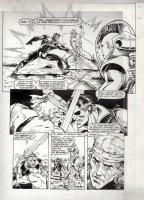 POLLARD, KEITH - Nick Fury, Agent of SHIELD #14 large pg 13, Nick & lightswords Comic Art