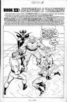 POLLARD, KEITH - Marvel Saga Inside Cover, Fantastic Four #30 redo ala Jack Kirby Comic Art
