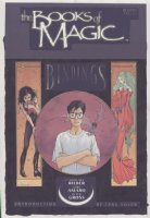 VESS, CHARLES - Gaiman's Books of Magic cover painting, Book #1 (logo on overlay) Sandman' Death, Queen Titania, Tim Hunter Comic Art