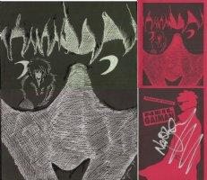 GAIMAN, NEIL - rare artwork - Neil Gaiman Tribute comic book 2up cover, drawning himself with Sandman, 1993 Comic Art