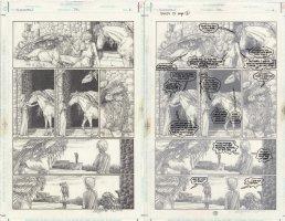 ZULLI, MICHAEL - Sandman #72 pg 6, New Sandman / Dream Daniel & his creature gatekeepers + Endless brother Destruction Comic Art