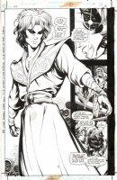 PORTER, HOWARD - Grant Morrison's JLA #22 Splashy pg, Sandman Daniel meets Wonder Woman & Green Lantern Comic Art