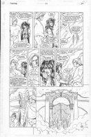 ALLRED, MIKE - Sandman #54 pg 20 - Death, Sandman's Sister, greets dead Prez Comic Art