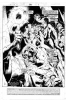 MADUREIRA, JOE - Uncanny X-Men #335 page 1, Oxymandias and the Fantastic Four splash page!  Comic Art