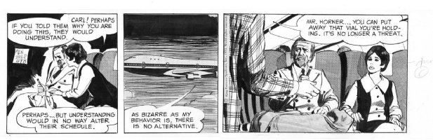BALD, KEN - Dr Killdare daily 4/18 1972, sick man on plane Comic Art