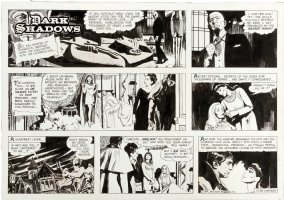 BALD, KEN - Dark Shadows Sunday, Barnabus Collins + Gods Set & Isis,  6/6 1971 Comic Art