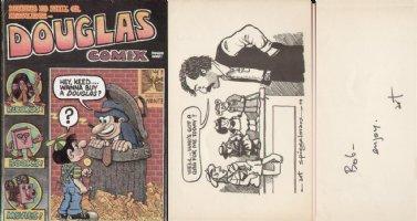 SPIEGELMAN, ART - mailing set, rare comic and print- signed on back Comic Art