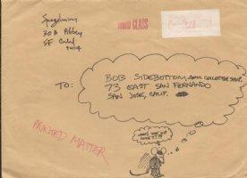 SPIEGELMAN, ART - mailing set, envelop with Maus drawing Comic Art
