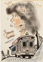 SPIEGELMAN, ART - Beauty Queen caricature in San Fran city - 1965-1966  Comic Art