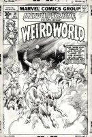 BUSCEMA, JOHN / RUDY NEBRES - Marvel Premiere #39 cover, used as Pinup, WEIRDWORLD 1977 Comic Art