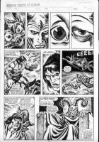 BUSCEMA, JOHN & ERNIE CHAN - Savage Sword of Conan #191 pg 40,  Conan & Thoth-Amon Comic Art