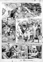 BUSCEMA, JOHN & ALFREDO ALCALA - Savage Sword of Conan #2 pg - Conan  Black Colossus  1st team of 2 classic artists Comic Art