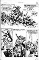 BUSCEMA, JOHN / ALCALA - Savage Sword Conan #28 pg 37, Conan flees desert raiders Comic Art