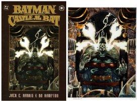 HAMPTON, BO - Castle of the Bat Cover painting, ala Frankenstein 1995 Comic Art
