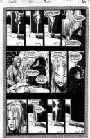 BACHALO, CHRIS - DEATH HCOL #2 pg 24, Death & Sexton trapped, cigarette burning Comic Art