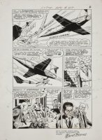 BORING, WAYNE - Action Comics #349 pg 4, larger size board 13  x 19 . Superman changes to Clark Comic Art